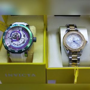 2 watches for sale, $2,395 WORTH-NEW INVICTA'S